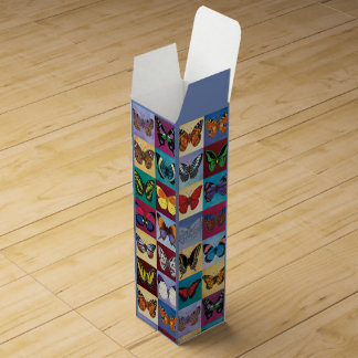 Butterfly Patchwork Wine Gift Box
