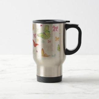 Butterfly pattern 15 oz stainless steel travel mug