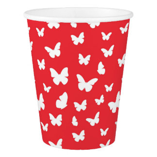 Butterfly pattern 2 paper cup