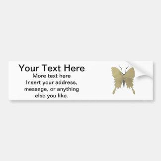 Butterfly pattern bumper sticker