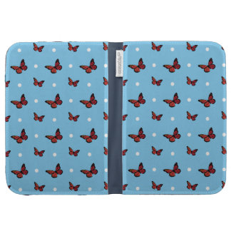 Butterfly pattern kindle folio cases