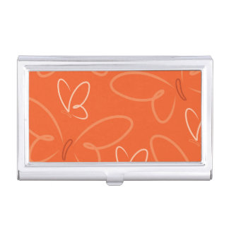 Butterfly pattern case for business cards