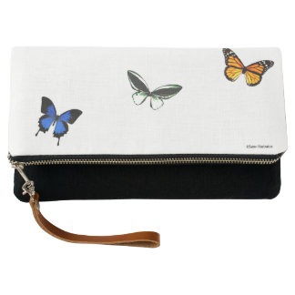 Butterfly Pattern Clutch Bag