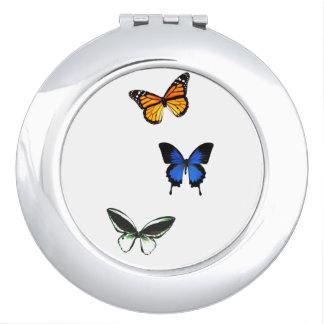 Butterfly Pattern Compact Mirror