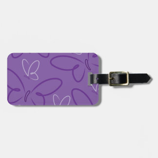 Butterfly pattern luggage tag