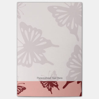 butterfly pattern post-it notes