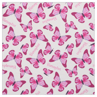 Butterfly Pattern Pretty Pink Purple Personalized Fabric