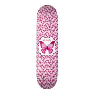 Butterfly Pattern Pretty Pink Purple Skate Decks