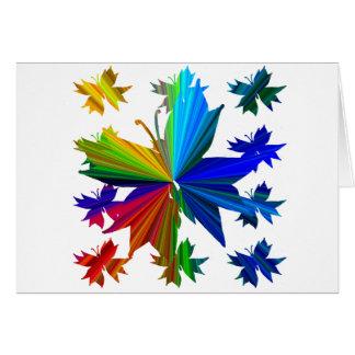 Butterfly Pattern Rainbow Card