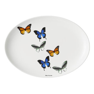 Butterfly Pattern Serving Platter