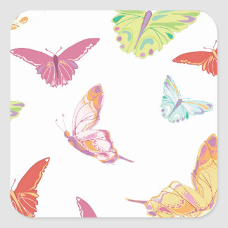 Butterfly  pattern. square sticker
