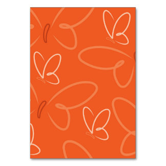 Butterfly pattern table cards