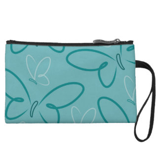 Butterfly pattern wristlet clutches