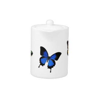 Butterfly Patterned Teapot