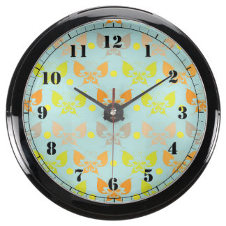 Butterfly patterns aquavista clock