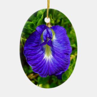 Butterfly Pea Ceramic Ornament