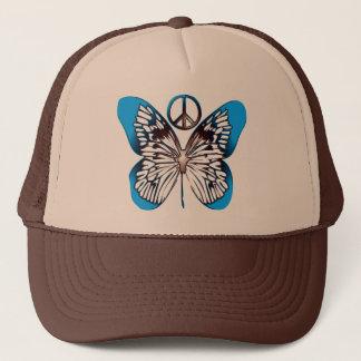 BUTTERFLY & PEACE SIGN TRUCKER HAT