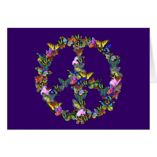 Butterfly Peace Symbol Greeting Card