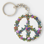 Butterfly Peace Symbol Key Chain