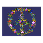 Butterfly Peace Symbol Postcard