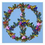 Butterfly Peace Symbol Poster