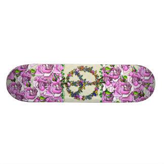 Butterfly Peace Symbol Custom Skateboard