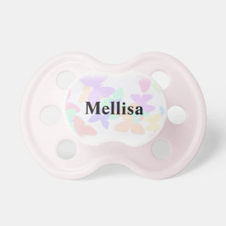 Butterfly personalized Baby Name Pacifier