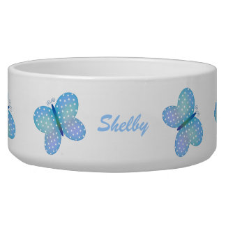 Butterfly: Personalized Pet Dish Pet Bowls