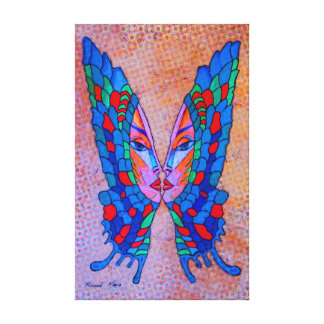 Butterfly phase girl canvas print