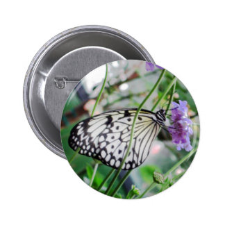 Butterfly Photo Button Pin