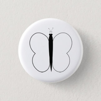 Butterfly Pic 1 Inch Round Button