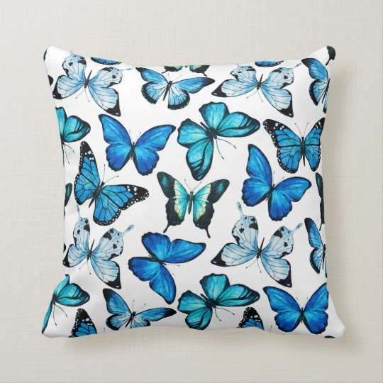Butterfly pillow (White)