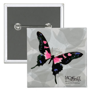 Butterfly - Pink - Button