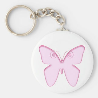 butterfly pink keychain
