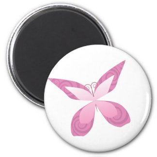 Butterfly Pink Ribbon Refrigerator Magnets