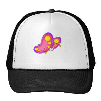 butterfly pink trucker hat