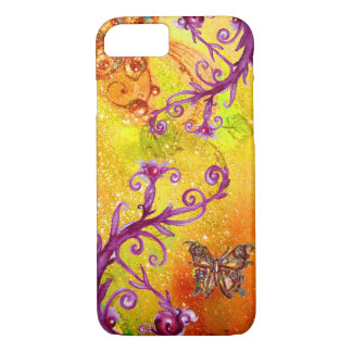 BUTTERFLY PLANT / MAGIC SWIRLS IN SPARKLE Yellow Case-Mate iPhone Case