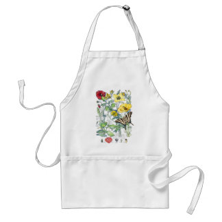 Butterfly Poppies Flowers Garden Apron