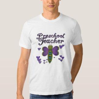 Butterfly Preschool Teacher Tshirts
