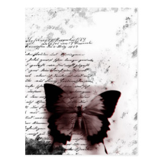 Butterfly print postcard