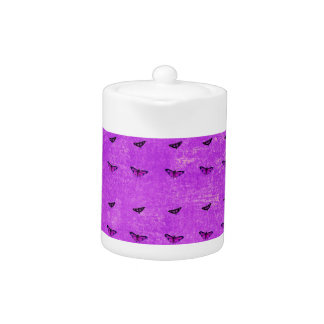 Butterfly print purple