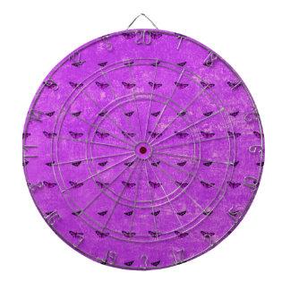 Butterfly print purple dartboard