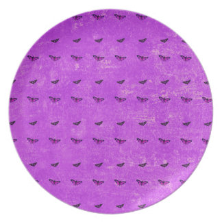 Butterfly print purple plate