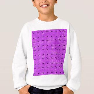 Butterfly print purple sweatshirt