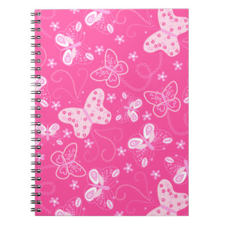 Butterfly printed embroidery notebook