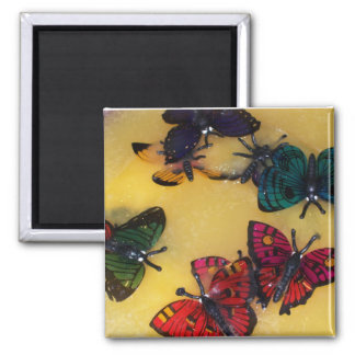 Butterfly Punch Square Magnet