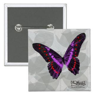 Butterfly - Purple - Button