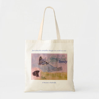 Butterfly quote natural tote