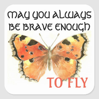 Butterfly Quote Sticker
