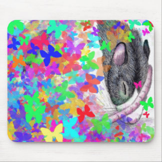 butterfly rat mouse pad